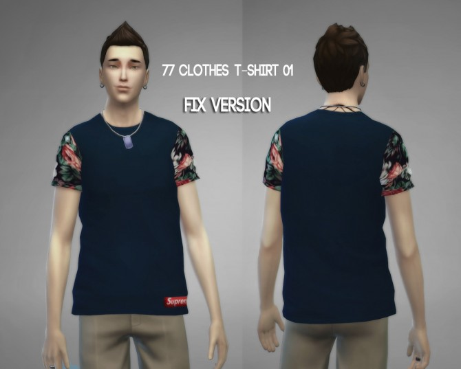 77clothes  T shirt 01 (Fixed) at The77Sims3 image 8410 Sims 4 Updates