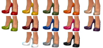 Sims 4 Two pairs of heels at Sentate