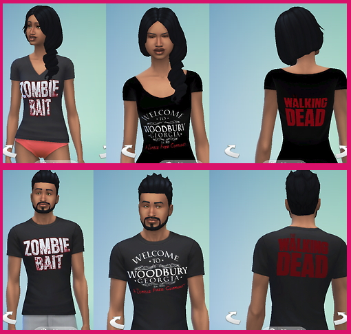 Sims 4 Walking Dead T Shirts at Star's Sugary Pixels