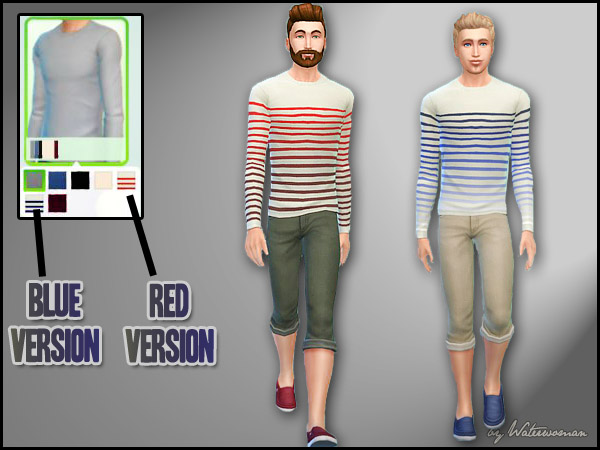 """Stripes for President"" Sweatshirts by Waterwoman at Akisima image 847 Sims 4 Updates"