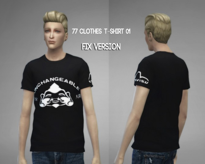 77clothes  T shirt 01 (Fixed) at The77Sims3 image 8511 Sims 4 Updates