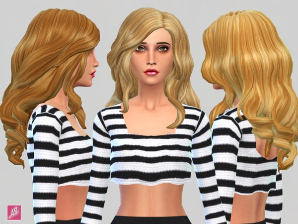 Blonde Ambition Long Wavy Over Shoulder hair by Alexandra Sine at The Sims Resource image 8520 Sims 4 Updates