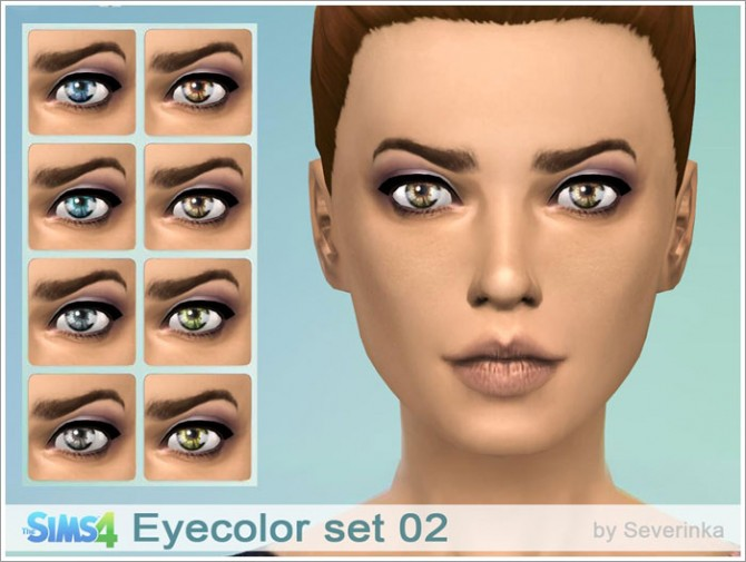 Eyecolor set 02 at Sims by Severinka image 8530 Sims 4 Updates