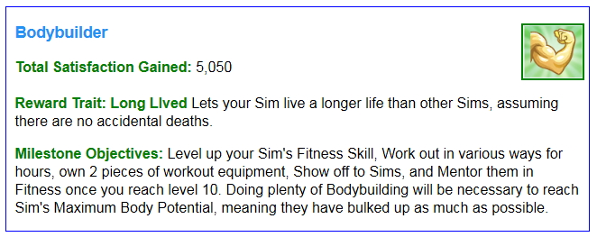 Sims 4 Aspirations List at Carl's Sims 4 Guide