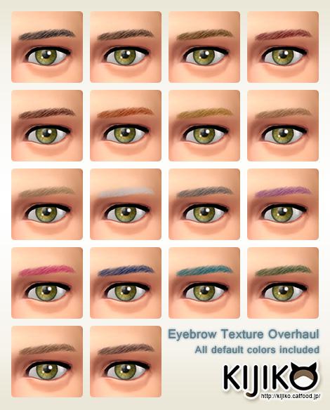 Sims 4 Eyebrow Texture Overhaul at Kijiko