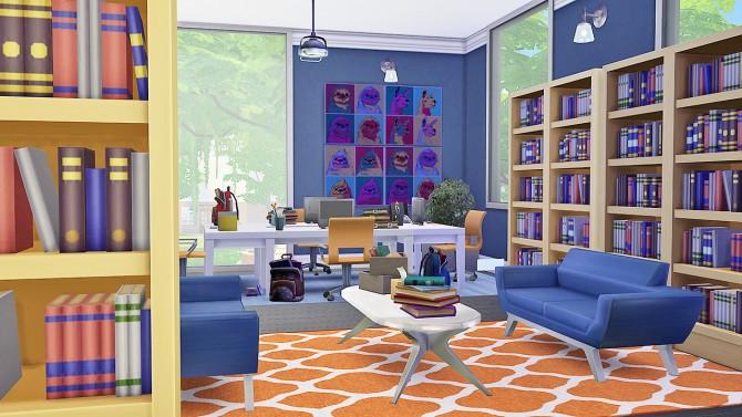 Sims 4 Harper Library and Corrigan Corner (cafe) at Simkea