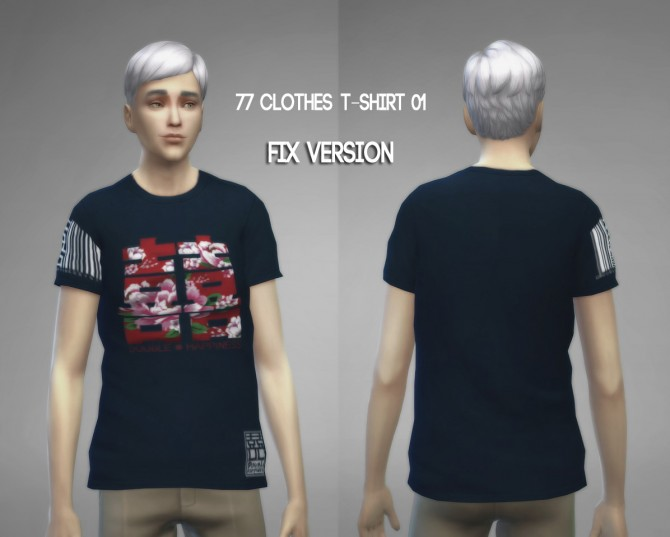77clothes  T shirt 01 (Fixed) at The77Sims3 image 8671 Sims 4 Updates