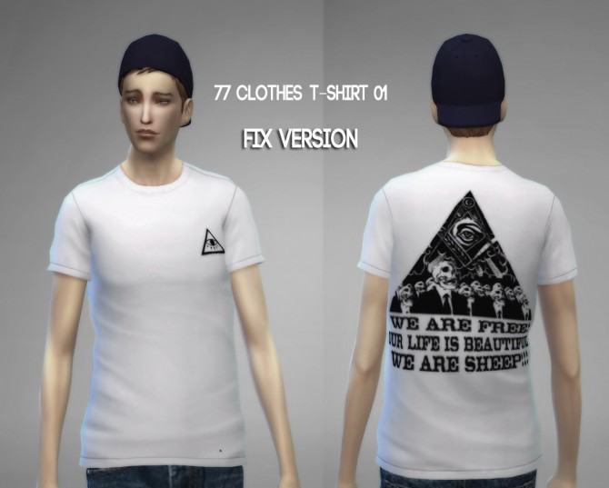 77clothes  T shirt 01 (Fixed) at The77Sims3 image 878 Sims 4 Updates