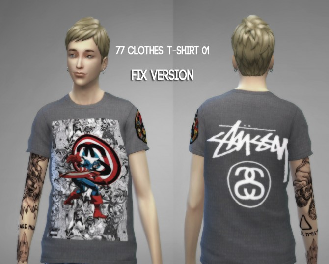 77clothes  T shirt 01 (Fixed) at The77Sims3 image 888 Sims 4 Updates
