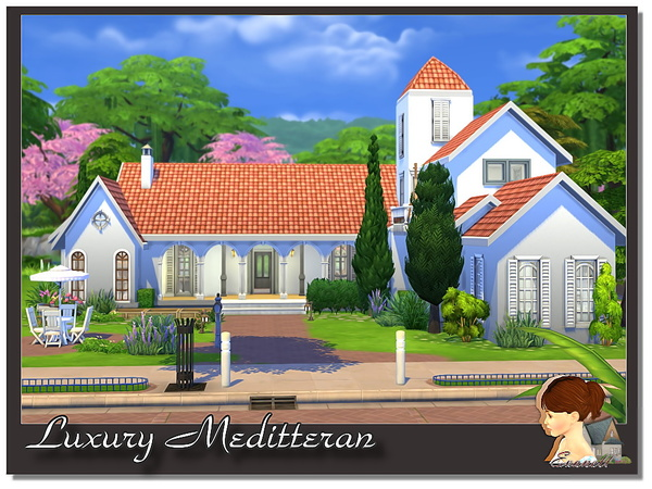 Luxury Meditterane house by Evanell at The Sims Resource image 890 Sims 4 Updates