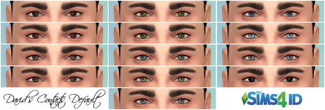 Sims 4 Davids Contacts Default at The Sims 4 ID