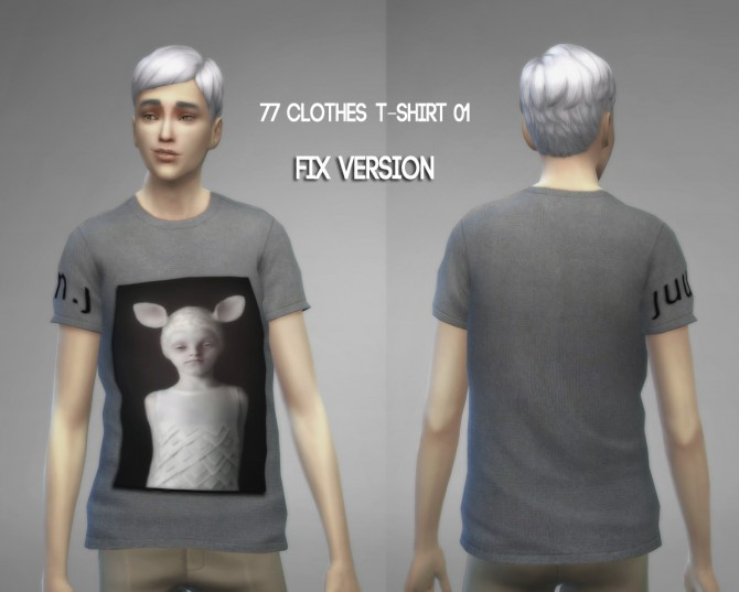 77clothes  T shirt 01 (Fixed) at The77Sims3 image 898 Sims 4 Updates