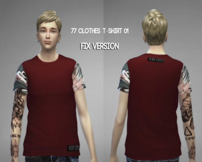 77clothes  T shirt 01 (Fixed) at The77Sims3 image 908 Sims 4 Updates