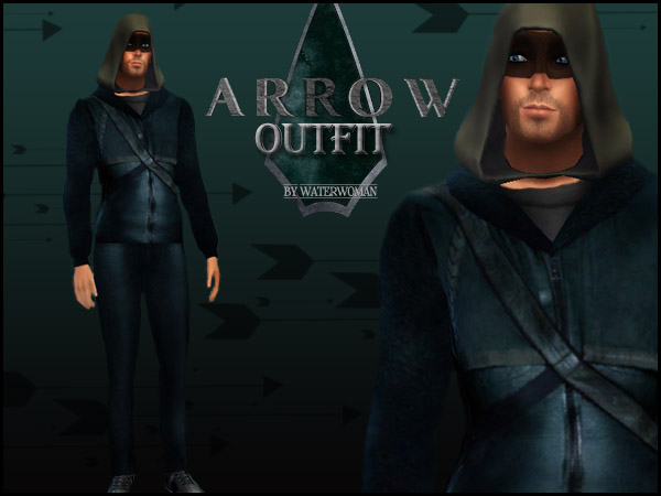 Sims 4 ARROW Outfit by Waterwoman at Akisima