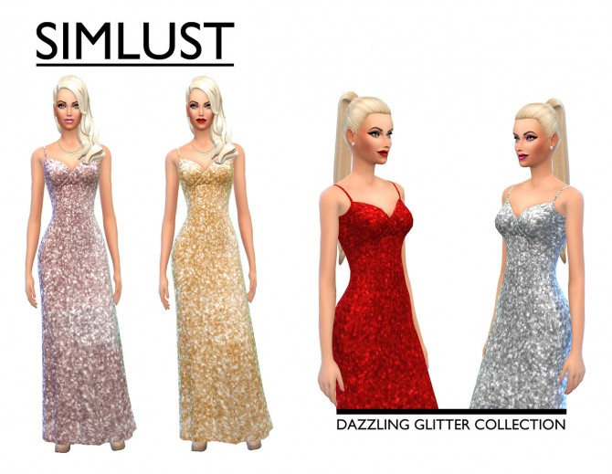 Sims 4 Dazzling Glitter Collection at Simlust