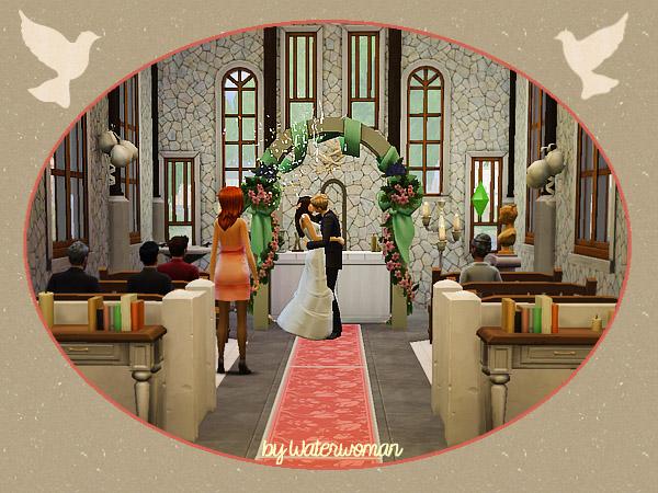 Sims 4 Williams Chapel by Waterwoman at Akisima