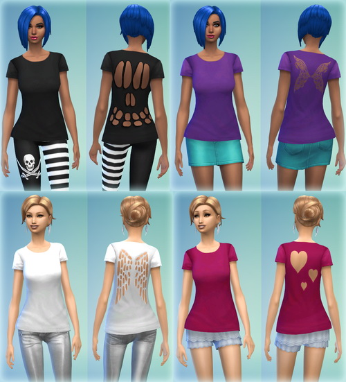 Sims 4 Cutout Tees by ERae013 at Adventures in Geekiness