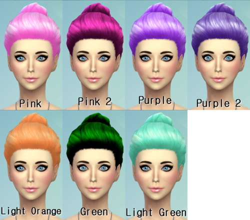 22 Non default Hair Recolors at Darkiie Sims4 image 943 Sims 4 Updates