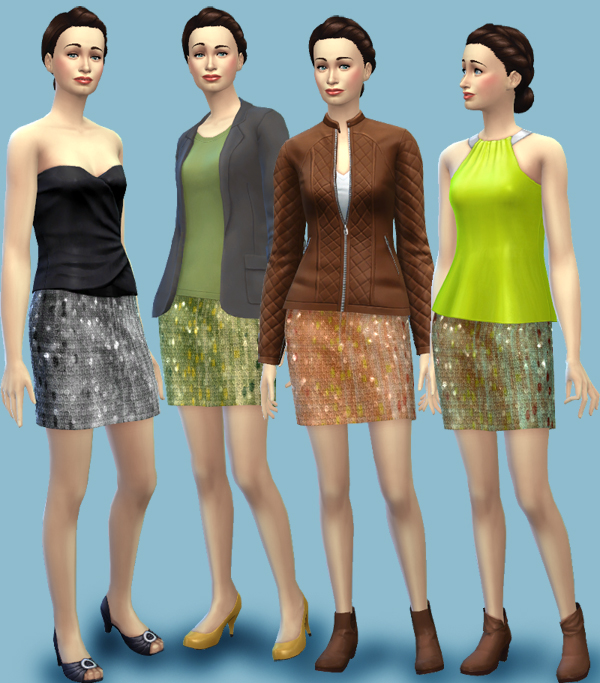 Glitter skirts by bienchen83 at Sim2me image 9515 Sims 4 Updates