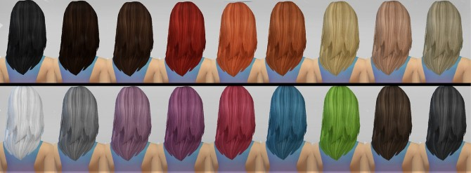 Sims 4 JSBoutique AF Hair #1 retexture at Simaniacos