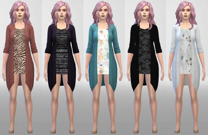 Sims 4 My Blazer Outfit Recolors Without Leggings at ThatMalorieGirl