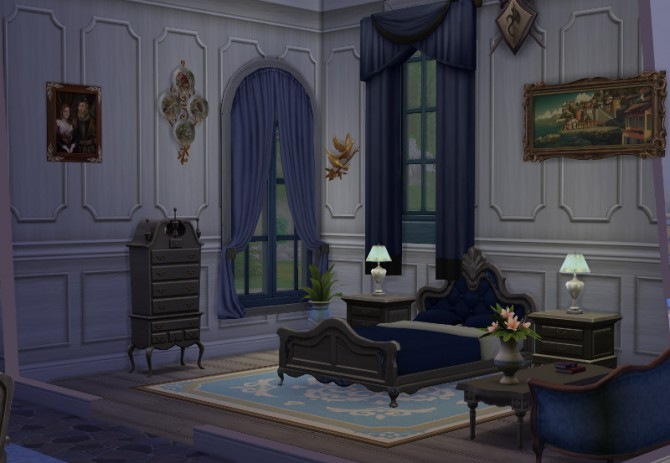 Sims 4 Cinderella castle by Christine at CC4Sims