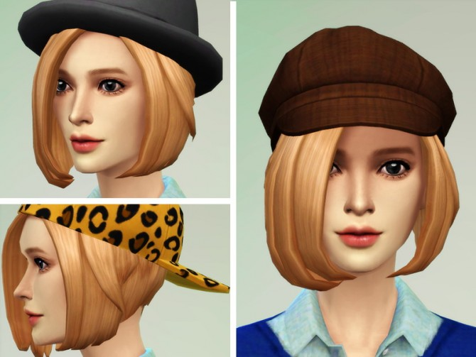 Sims 4 New Hair mesh 02 at JSBoutique