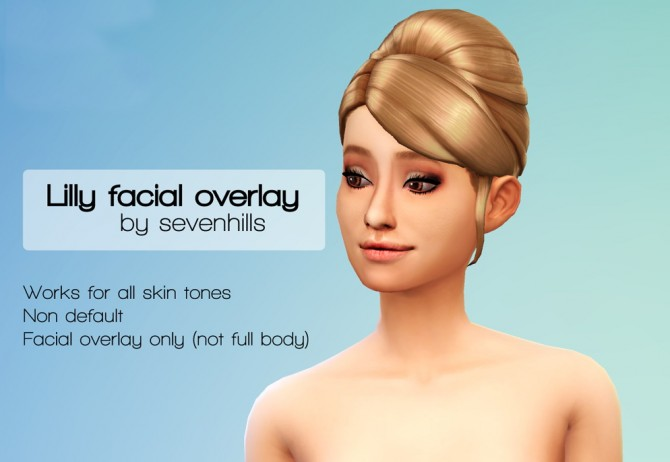 Lily face overlay at Sevenhills Sims image 9713 Sims 4 Updates