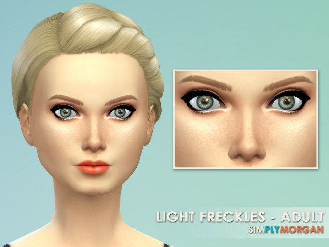 Sims 4 Light & Heavy Freckle Recolors at Simply Morgan