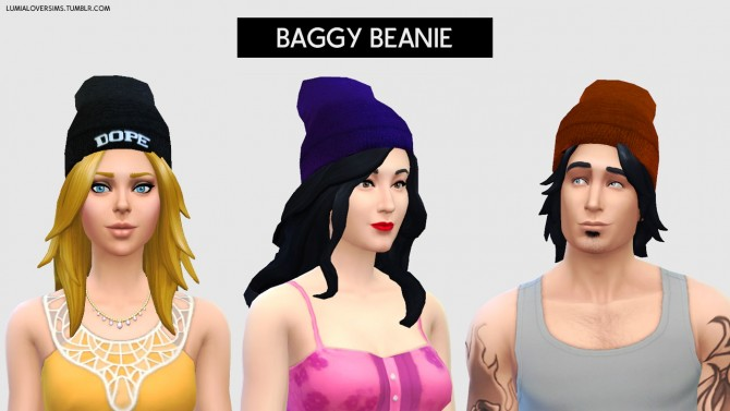 Baggy Beanies at LumiaLover Sims image 986 Sims 4 Updates