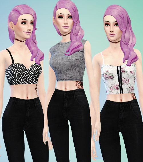 Random tops pack at Simspunk » Sims 4 Updates