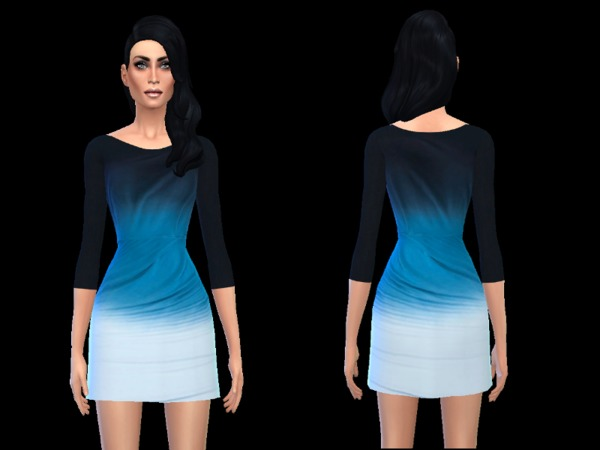 Blue dress by simsoertchen at TSR image 1 Sims 4 Updates
