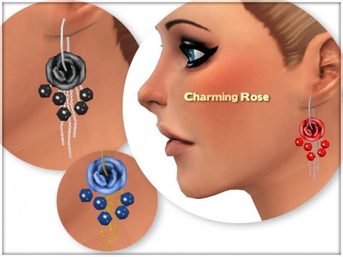 Sims 4 Charming Rose earrings by Yulia Ko at Sims Studio