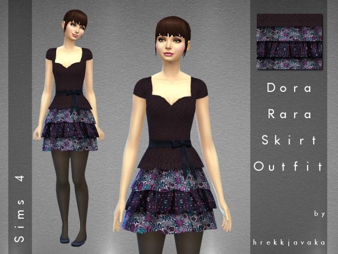 Dora RaRa skirt outfit at Hrekkjavaka Sims image 10010 Sims 4 Updates