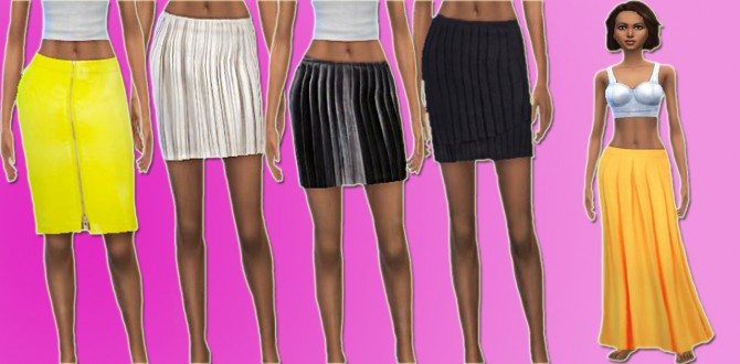 Sims 4 SKIRT COLLECTION at Lulufrosty frog