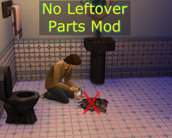 no leftover parts mod by scumbumbo at mod the sims sims 4 updates. Black Bedroom Furniture Sets. Home Design Ideas