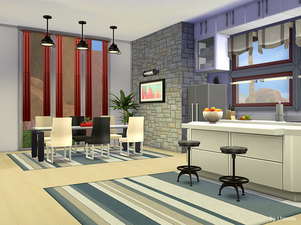 Sims 4 Luca house by Lhonna at TSR