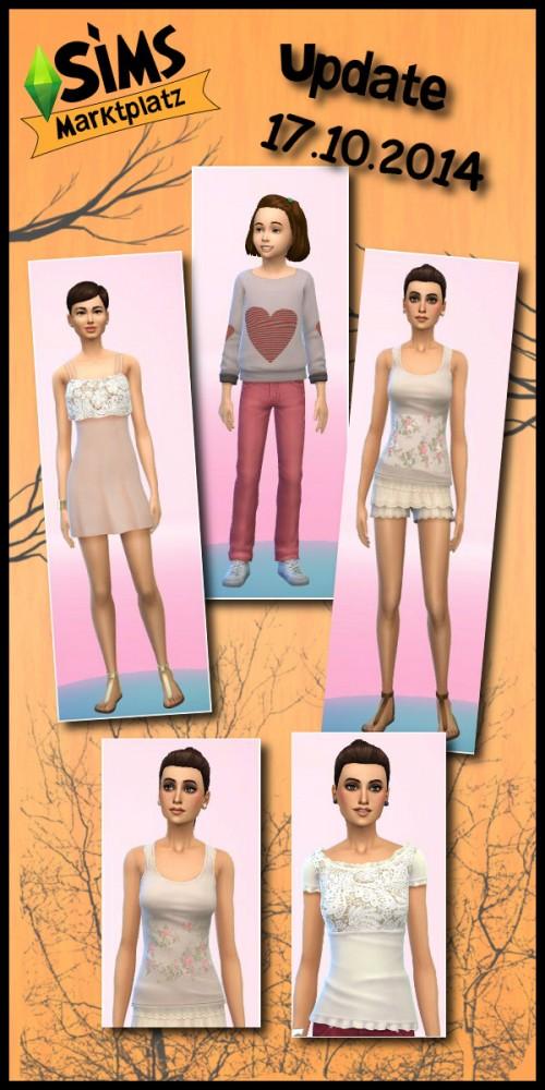 Sims 4 Pullover, dress and 3 T Shirts at Sims Marktplatz