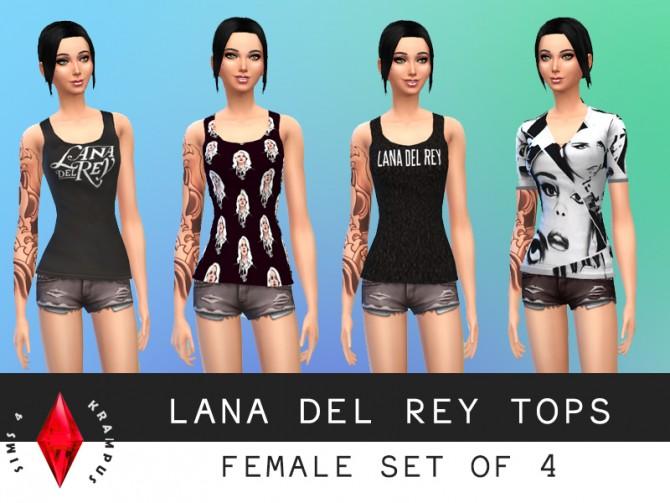 4 Lana Del Rey tops at Sims 4 Krampus image 1031 Sims 4 Updates