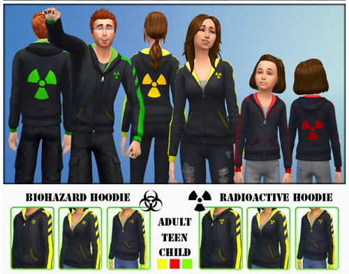 Hoodies with Radioactive and Biohazard logo at Gefa Sims image 10613 Sims 4 Updates