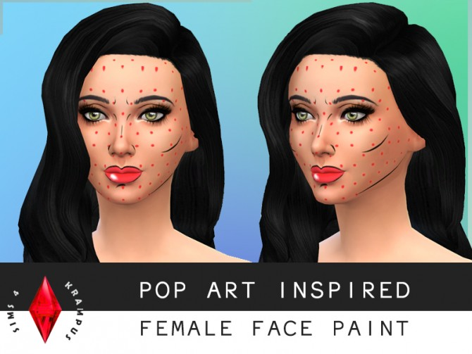 Pop Art inspired face paint at Sims 4 Krampus image 1088 Sims 4 Updates