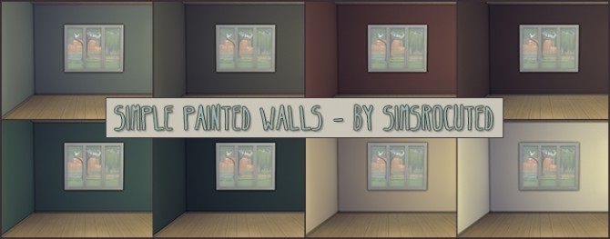 Sims 4 Simple painted walls at Simsrocuted
