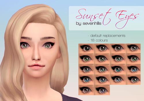 Sims 4 SUNSET EYES at Sevenhills Sims