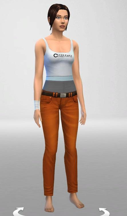 Sims 4 Tank and Bandage at ThatMalorieGirl