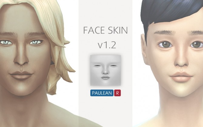 Sims 4 Face skin v1.2 at Paulean R