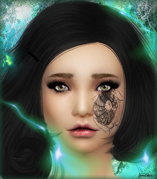 Sims 4 Halloween & tears Makeup at Jenni Sims