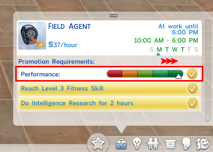 Sims 4 Work/Study Hard Gains More Performance by egureh at Mod The Sims
