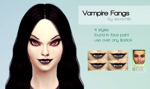 Sims 4 VAMPIRE FANGS at Sevenhills Sims
