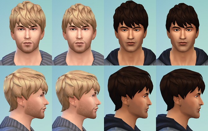 Sims 4 Messy Short Bangs Resized at Simsontherope