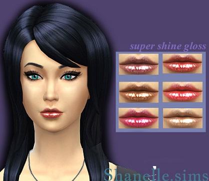 Sims 4 Super shine lip gloss 6 shades at Shanelle Sims